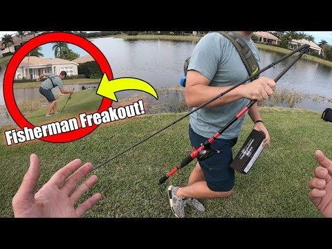 Fisherman FREAKS OUT, BREAKS Fishing Rod!