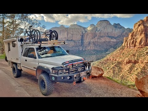 ep:13-exploring-zion-national-park-with-a-truck-camper-&-dog---full-time-camping