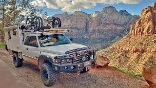 EP:13 Exploring ZION National Park with a TRUCK CAMPER & DOG - FULL TIME CAMPING