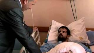 Rebel council leader visits injured fighters