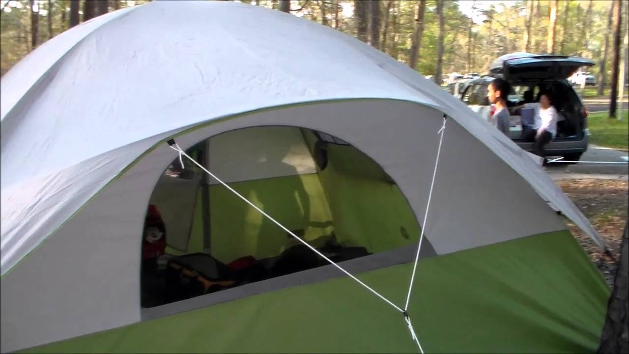 & COLEMAN EVANSTON 8 PERSON TENT - YouTube