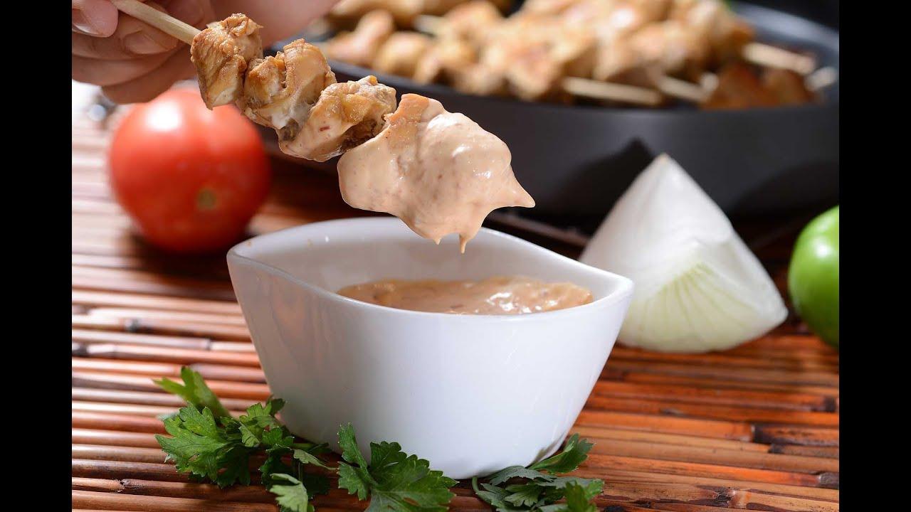 Brochetas de pollo con salsa de chipotle Cómo preparar