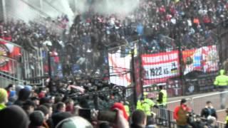 Арсенал - Спартак (09.04.2015) Драка между болельщиками.