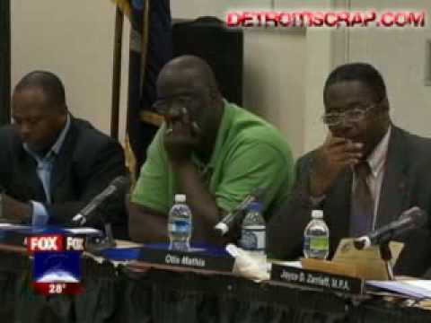 Illiterate Detroit School Board President.
