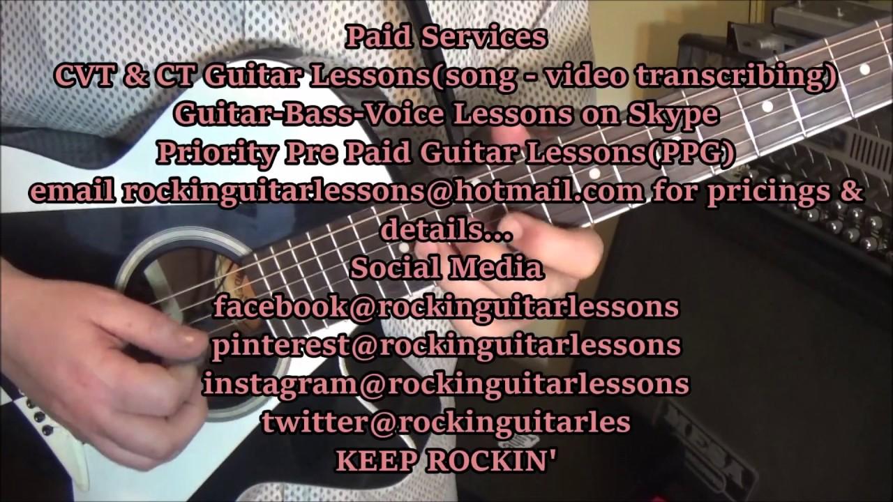 John Anderson Straight Tequila Night Guitar Lesson + Tutorial