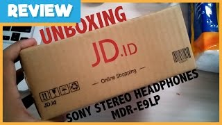 Unboxing Sony Stereo Headphone MDR-E9LP