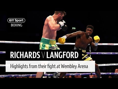 Lerrone Richards v Tommy Langford official highlights   A new super-middleweight star?
