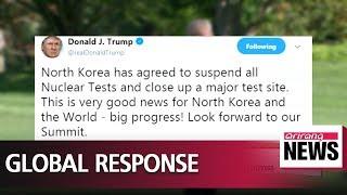 Trump welcomes North Korea's decision, calling it