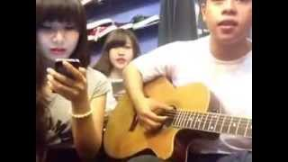 Tình Yêu Màu Nắng - Nắng Ấm Xa Dần ( GUITAR Cover ) By Ngân Gà - Viev Trần - Boy Ú Nù
