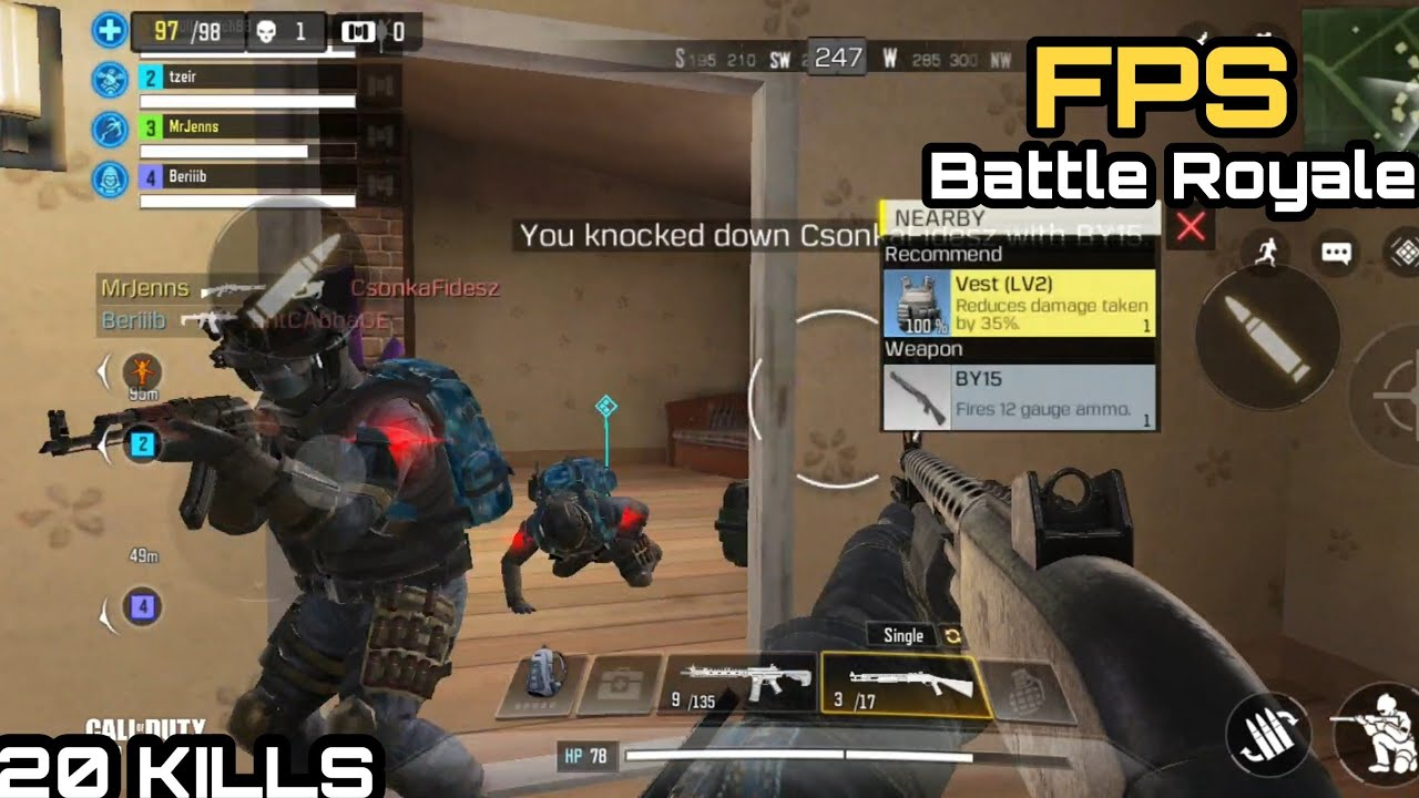 Mobile Call Of Duty Battle Royale | 20 Kills | Random Squad | Artic.50