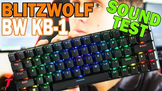 BlitzWolf BW-KB1 Keyboard Review + Sound Test/Typing Test - NOT THAT BAD (Blue Switch Mechanical)