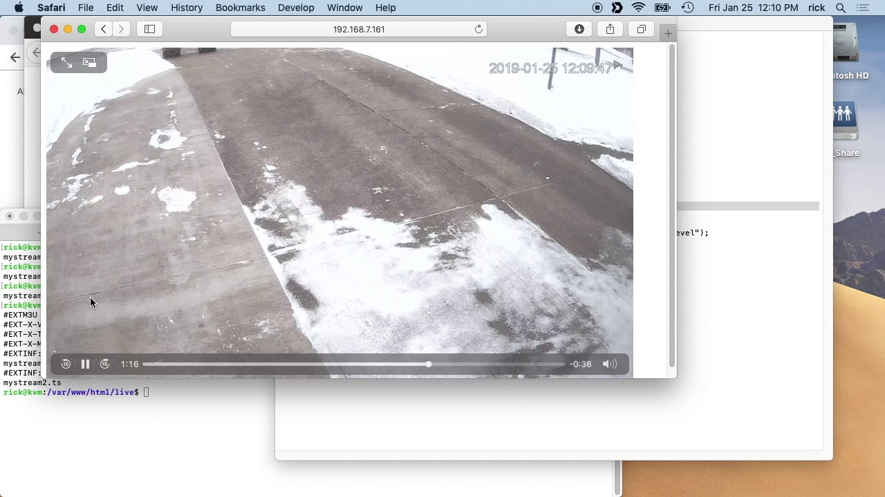 Streaming an IP Camera to a Web Browser using FFmpeg