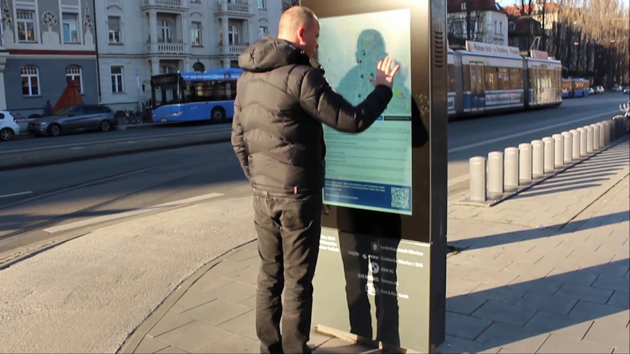 ST-DIGITAL | Digital Signage Outdoor LCD Totem custommade for MVG in Munich