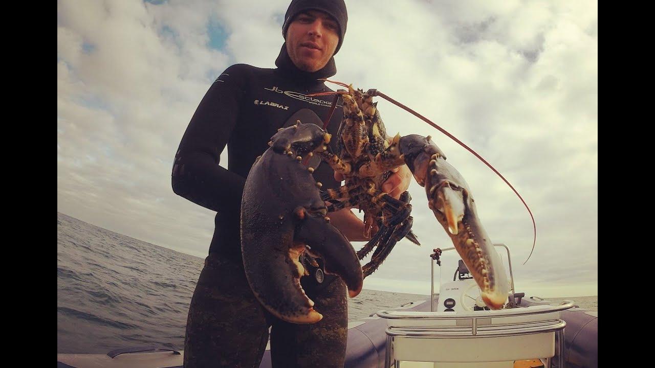 Capture d'un Gros Homard en chasse sous marine - Big ...