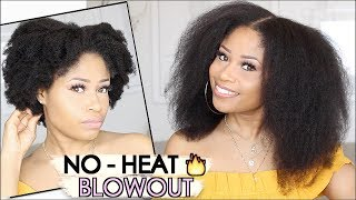 EASY NO-HEAT BLOWOUT on Natural Hair! | how-to