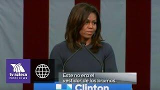 Michelle Obama criticó el comportamiento de Trump durante su campaña