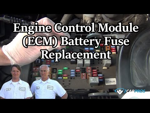 Engine Control Module (ECM) Battery Fuse Replacement
