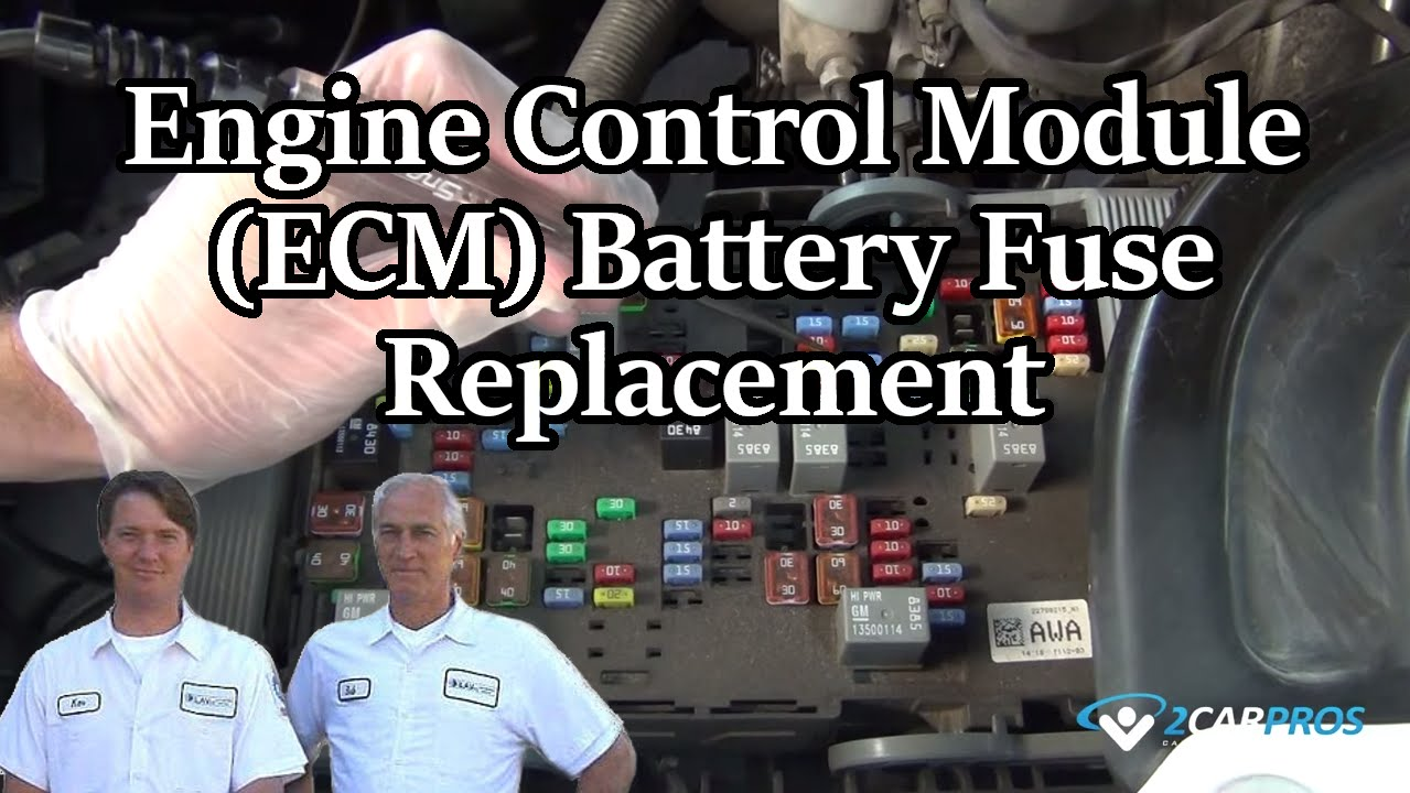 Engine Control Module Ecm Battery Fuse Replacement Youtube Box 97 Buick Lesabre