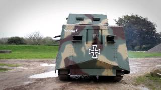 The A7V - German WWI replica tank