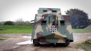 nerf war tank battle