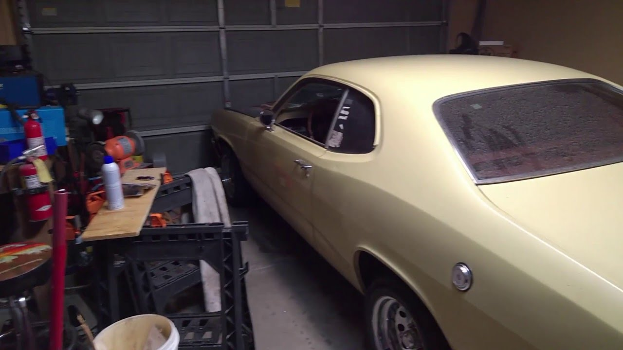 a 833 manual transmission swap into a 1973 hillbilly plymouth duster [ 1280 x 720 Pixel ]