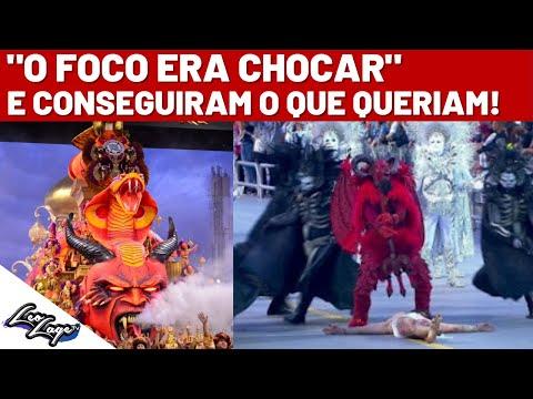 Desfile da Gaviões da Fiel CAUSA REVOLTA ao mostrar Satanás ''HUMILHANDO' Jesus - Carnaval 2019