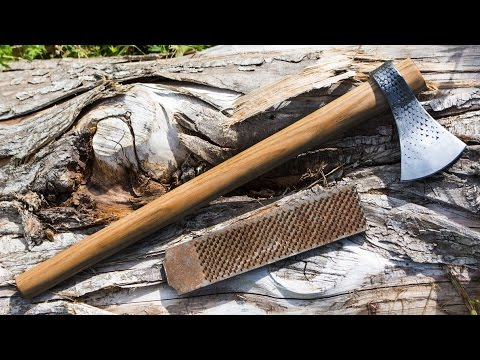 How to Make a Small Forge Welded Tomahawk Out of A Farrier's Rasp