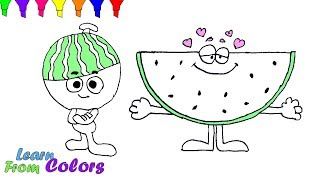How To Draw Watermelon Slice Coloring Pages For Kids