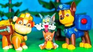 PAW PATROL Nickelodeon Paw Patrol with Tom & Jerry Toysl Video Parody