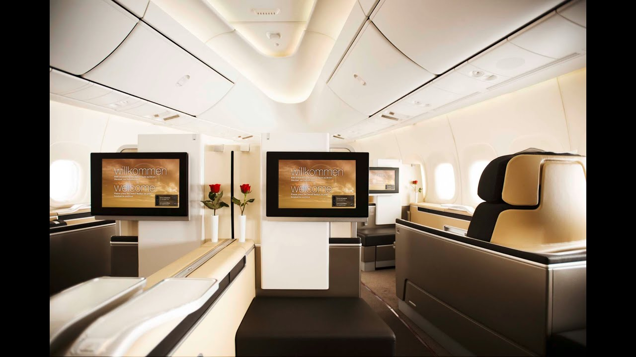lufthansa a380 first class frankfurt to miami youtube. Black Bedroom Furniture Sets. Home Design Ideas