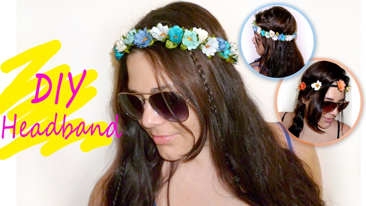 Easy floral crown headband tutorial youtube easy floral crown headband tutorial izmirmasajfo