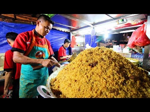 Indonesian Street Food - HUGE Indonesian Goat Fried Rice | CRAZY Street Food in Jakarta, Indonesia