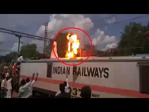 On cam: PMK functionary suffers electric shock during rail r