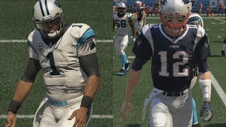 CAM NEWTON VS TOM BRADY!! BEST GAME EVER + SUPER BOWL PREDICTION!! MADDEN 16 PVP #12 (REMATCH)