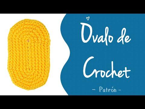 ÓVALO DE CROCHET (patrón) [medios puntos y varetas] | Patrones ...