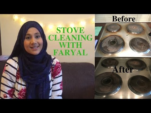 Stove Cleaning with Faryal - Homemade Stove Top Cleaner