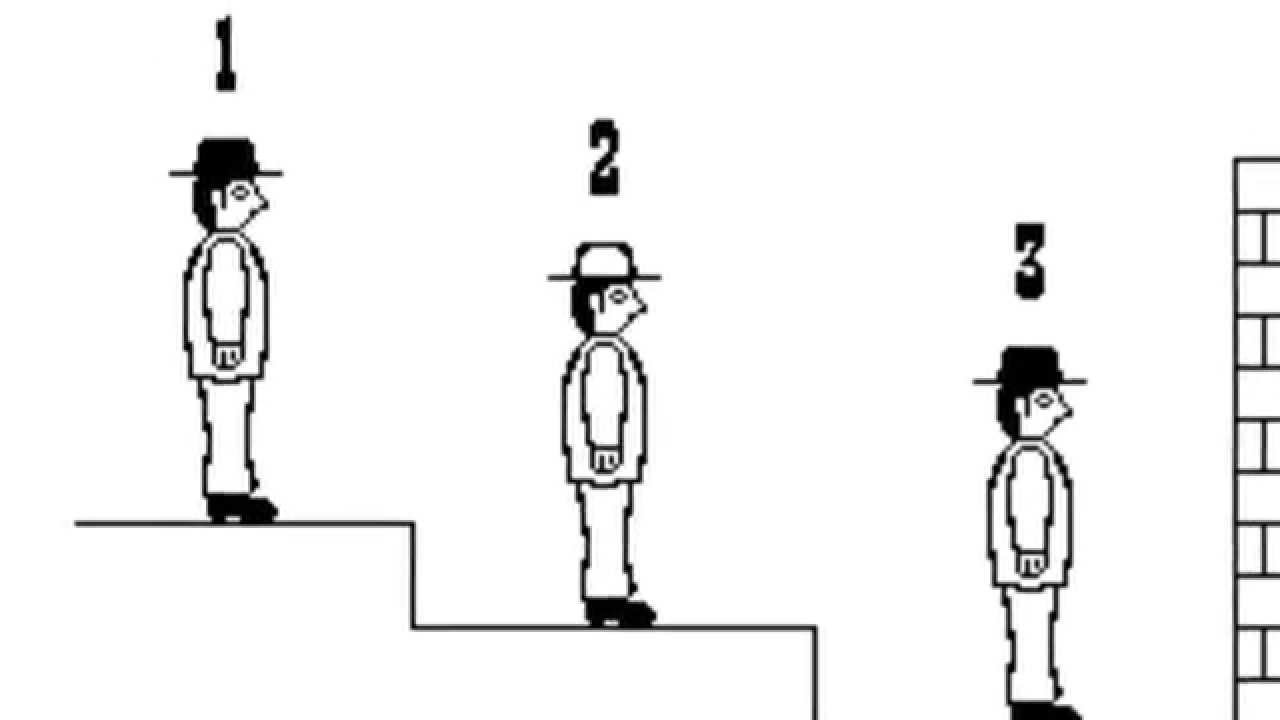 The Answer To The Black And White Hat Puzzle Who Will Shout First Youtube