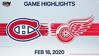 NHL Highlights | Canadiens vs Red Wings - Feb. 18, 2020