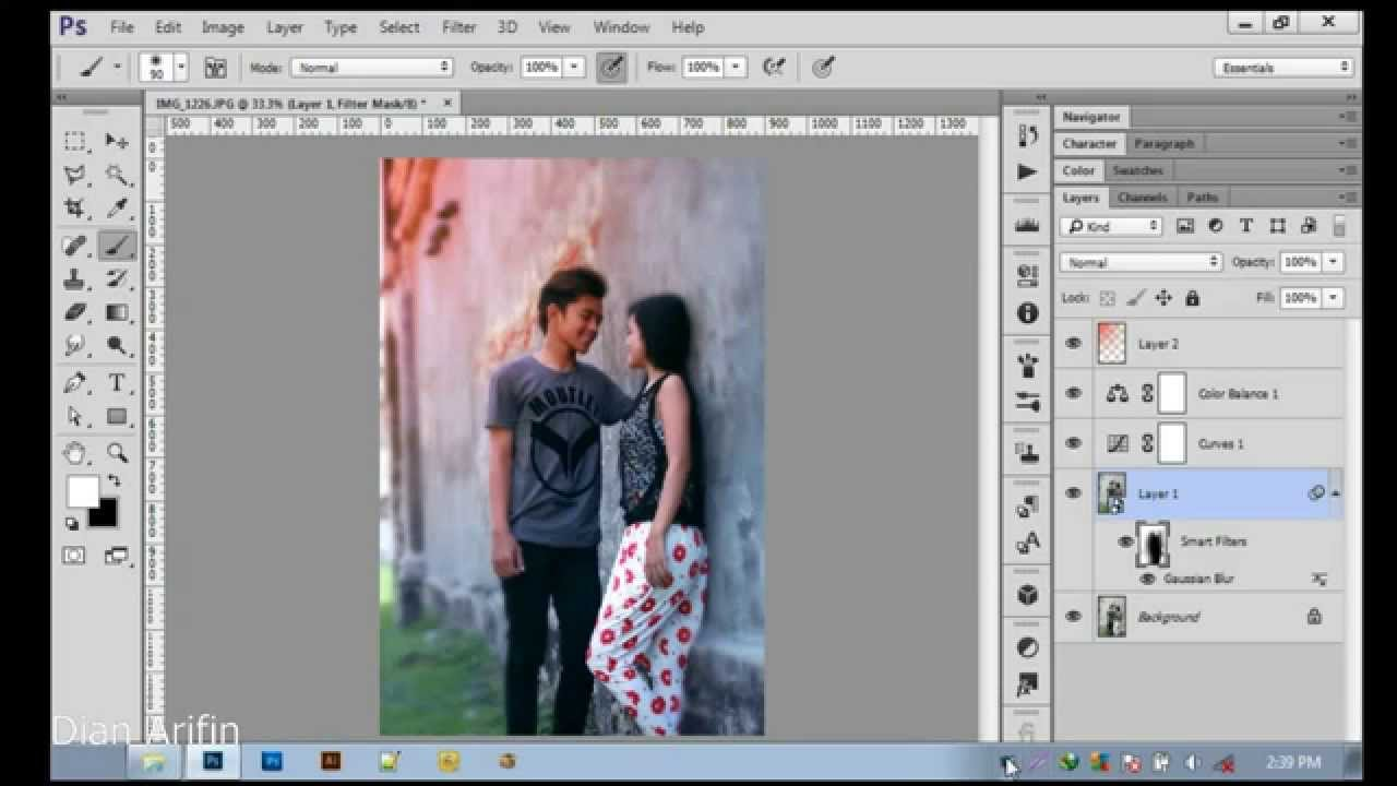 Tutorial Cara Edit Foto Dengan Photoshop - YouTube