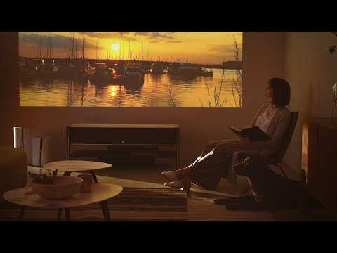 Your living space transformed: 4K Ultra Short Throw Projector LSPX-A1