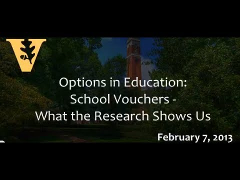 Options in Education: School Vouchers - What the Research Shows