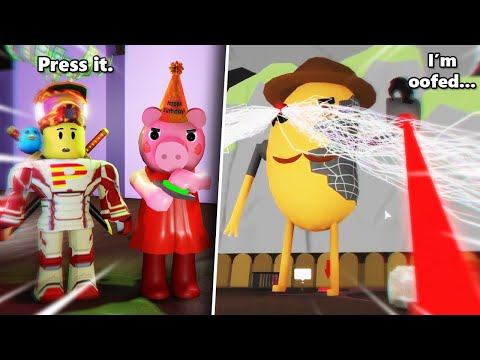 ROBLOX PIGGY OBBY GIANT MR. P BOSS BATTLE IN PENNY'S BIRTHDAY PARTY!!