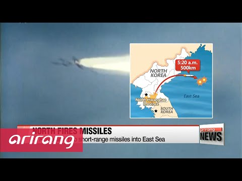 N. Korea fires two short-range missiles into East Sea
