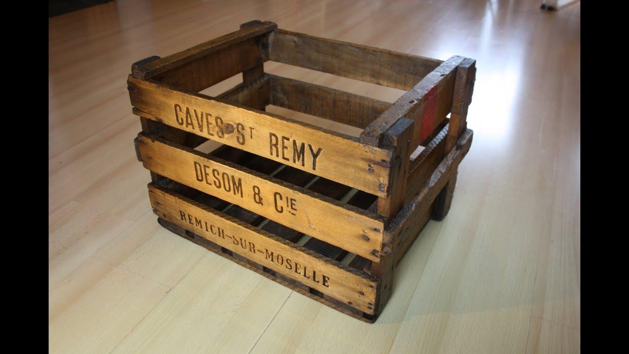 Retaper Une Vieille Caisse En Bois caisse en bois vintage - comment rénover / redonner un coup de pep's !