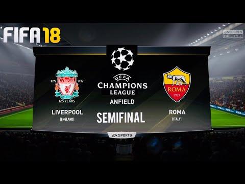 FIFA 18 Liverpool vs Roma predictions 24/4/18 @Anfield
