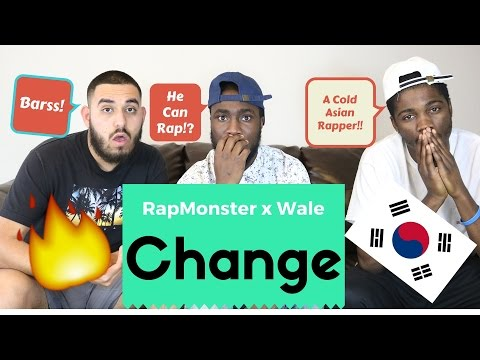 Rap Monster x Wale- Change Official Reaction