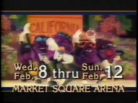 1989 - Ice Capades Features the Red Hot California Raisins