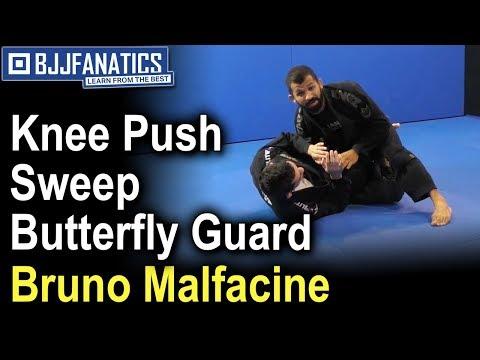 Knee Push Sweep Butterfly Guard by Bruno Malfacine