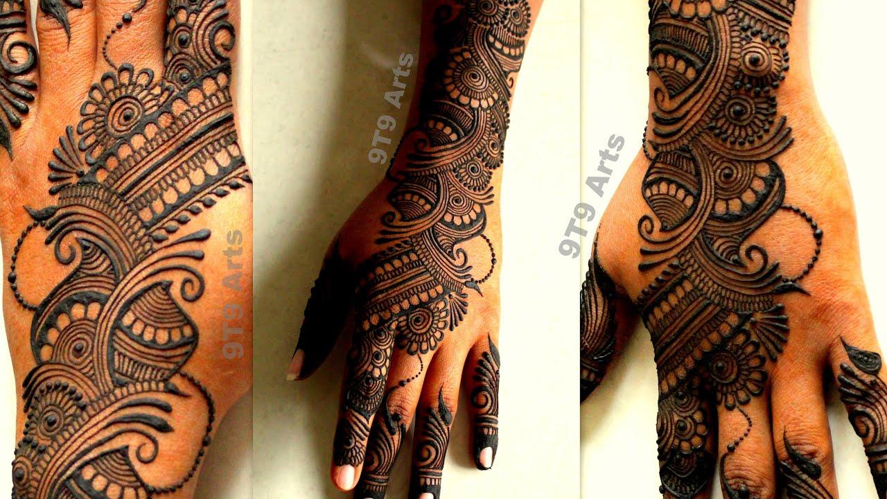 9t9 art mehndi design back hand