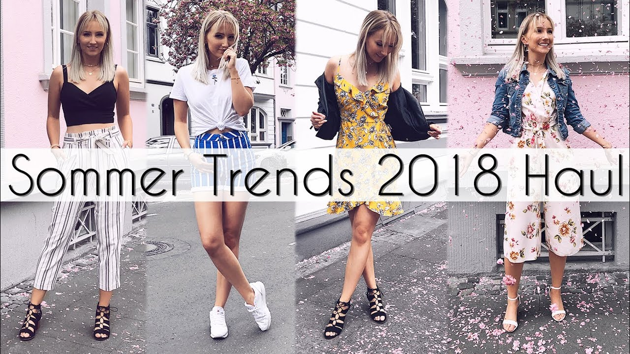sommer trends 2018 fashion haul kombiniert in 7 outfits. Black Bedroom Furniture Sets. Home Design Ideas